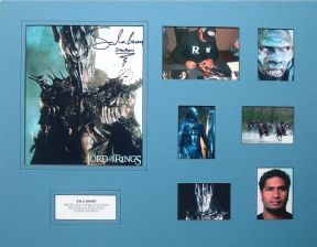 Sala Baker Signed Lord Of The Rings Autograph Photo Display
